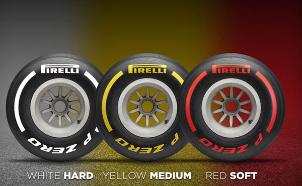 F1 tires color chart